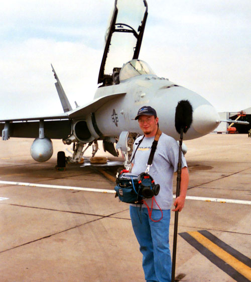 Me at the San Diego Air Force base